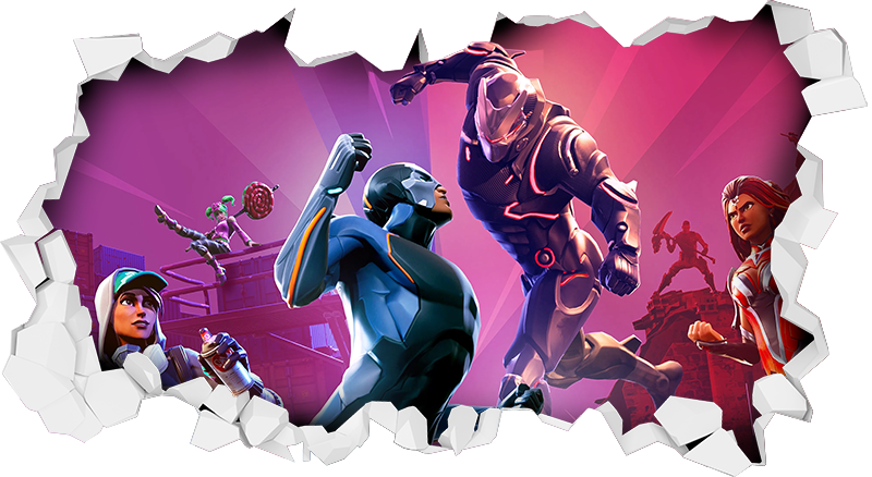TenStickers. 3D Fortnite battle video game sticker. If you are looking for an action packed, thrilling 3d sticker then look no further! This is the one! This video game sticker would be perfect for you