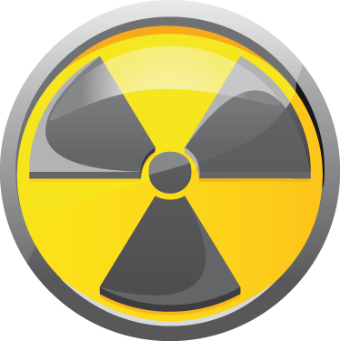 TenStickers. Radioactive Symbol Sticker. Label Stickers -Radioactive symbol sticker for labeling anything radioactive. Also ideal as a vehicle sticker or as a kids bedroom sticker.