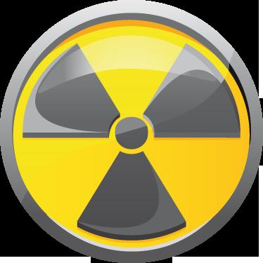 TenStickers. наклейка с радиоактивными символами. наклейки наклейки - наклейка с символом опасности для маркировки любых радиоактивных материалов. также идеально подходит как наклейка на транспортном средстве или как стикер для спальни для детей.