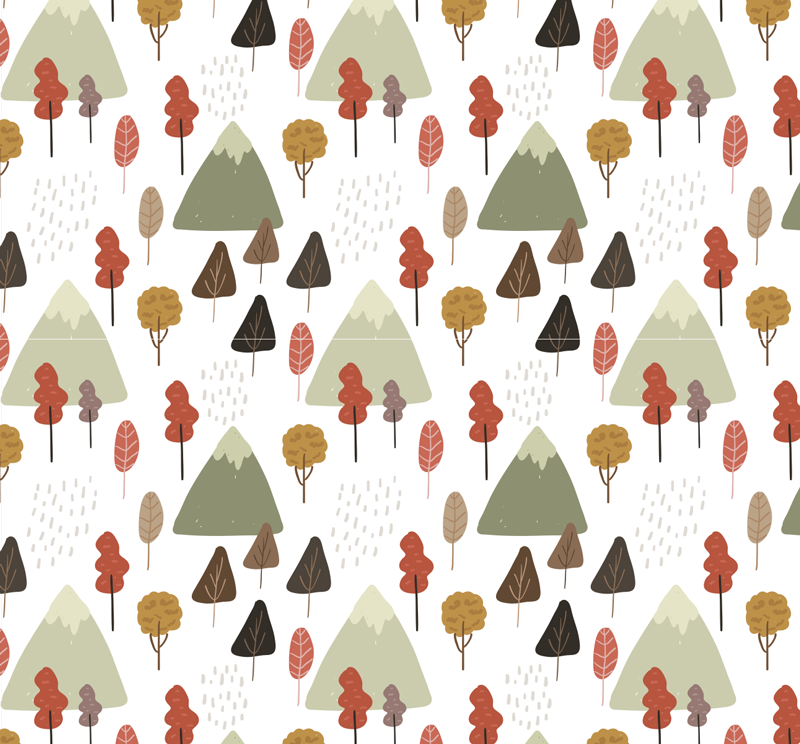 TenStickers. Autumnal forest wall mural decal. Buy our decorative wall mural sticker of autumn forest with all it features like the trees, leaves , rainfall and more in bright colours.