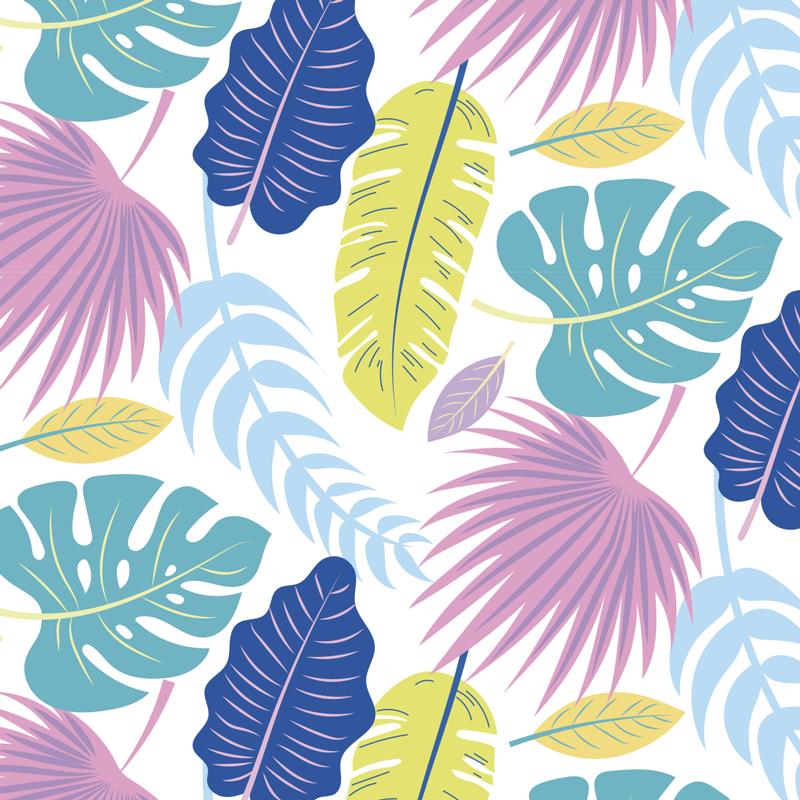 TenVinilo. Mural adhesivo flores tropicales. Exótico fotomural adhesivo con flores tropicales con el que podrás forrar tus paredes y disfrutar de una decoración exclusiva y original.