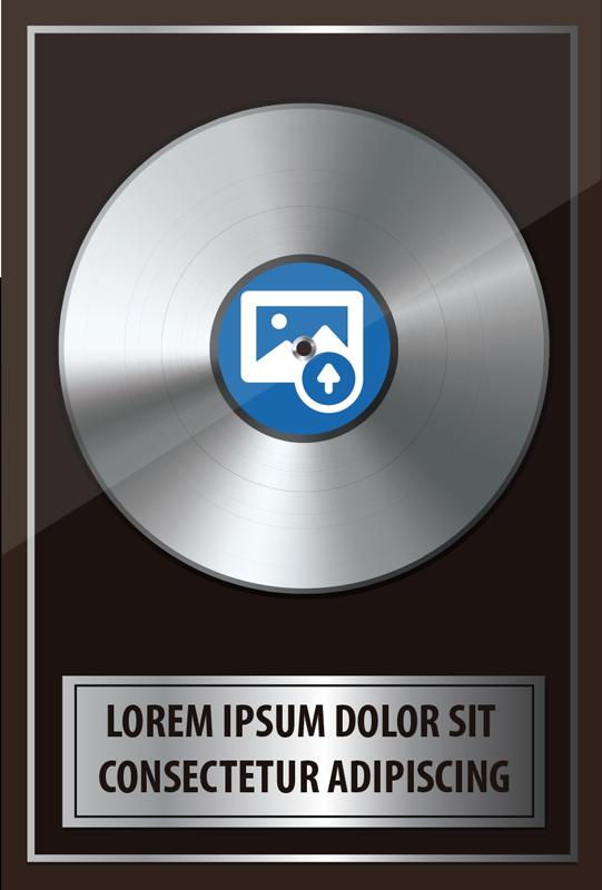 TenVinilo. Vinilo decorativo rock de música platino personalizable. Vinilo pared decorativo de música rock de disco de platino con de texto que se puede personalizar con la oración que elija. Fácil de aplicar.