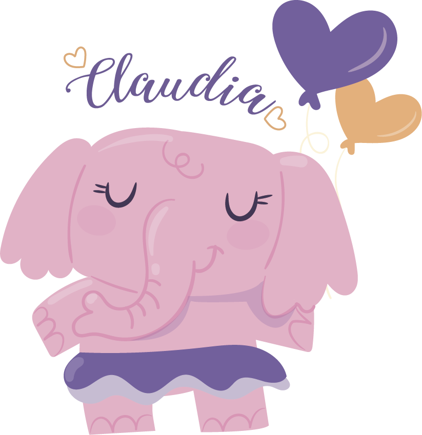 TenStickers. Elephant Kids Sticker. This simple but creative design is one of our elephant wall stickers for kids! Give your child's room a new wall decoration.