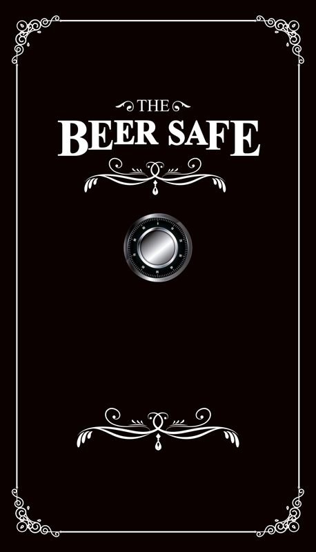 TenStickers. Fridge safe fridge wrap. Easy to apply decorative fridge door sticker with the text '' the beer safe '' it is bordered with fine rectangular ornamental style.