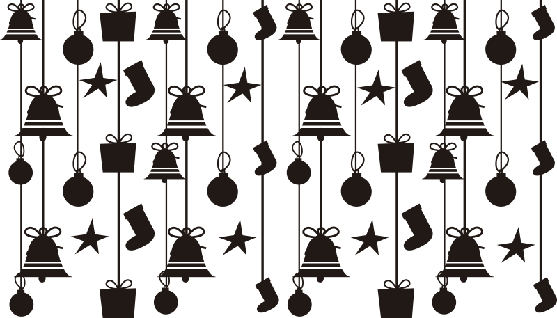 TenStickers. Christmas socks christmas wall decal. Adhesive window vinyl sticker design of Christmas socks, stars, gift bags and more. The design is for shop front window for Christmas festive sales .