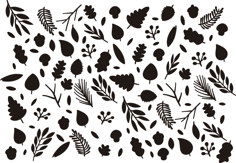TenStickers. Autumnal plants window sticker. Feeling autumnal? Well this season only comes around once a year, so decorate for it using these autumn stickers! Acorns, leafs, twigs, and much more