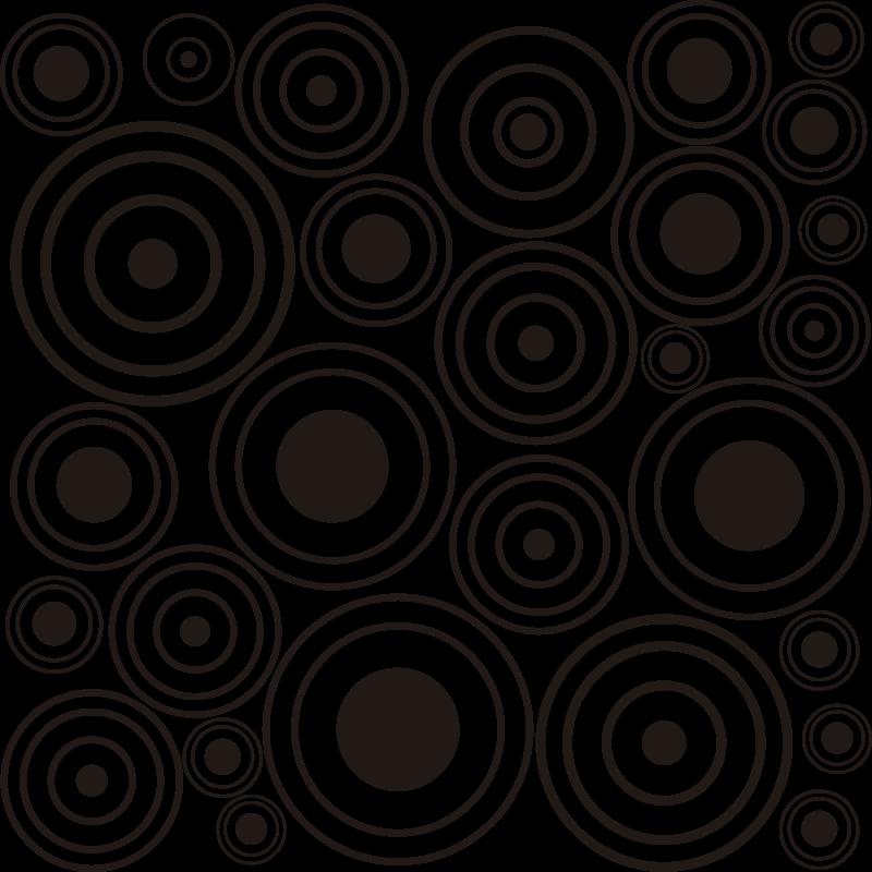 TenStickers. Ricochet mønstre vindue mærkat. Køb vores klæbende vindues vinyl mærkat oprettet med runde geometriske former i flere til at dekorere ethvert vindue i hjemmet, og det kan være i enhver farve.