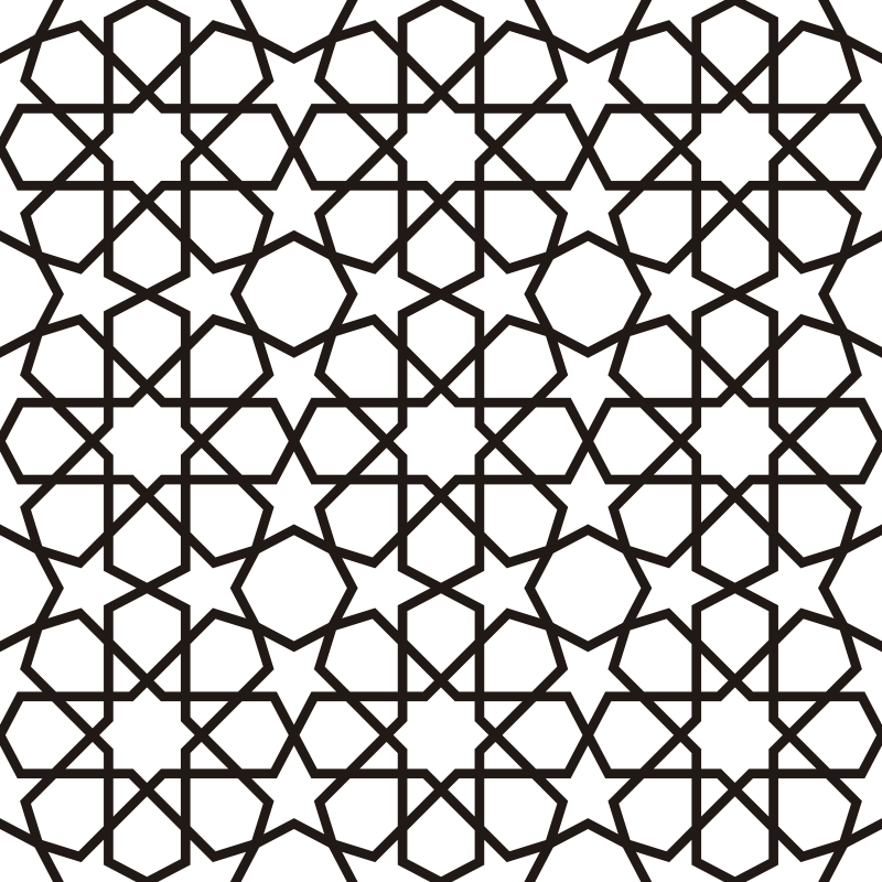 TenStickers. Eastern Moucharabieh window decal. A decorative window vinyl decal design of Eastern Moucharabieh with the feature of geometric forms like stars and hexagons.