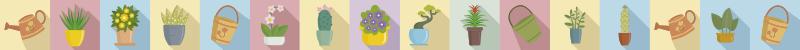 TenStickers. Muurstickers behangranden keuken bloempotten border. Wilt u keuken naar ook opfleuren?  Schaf dan deze prachtige border decoratie van bloempotten aan die er simpel uitziet maar mooi uitstraling heeft.