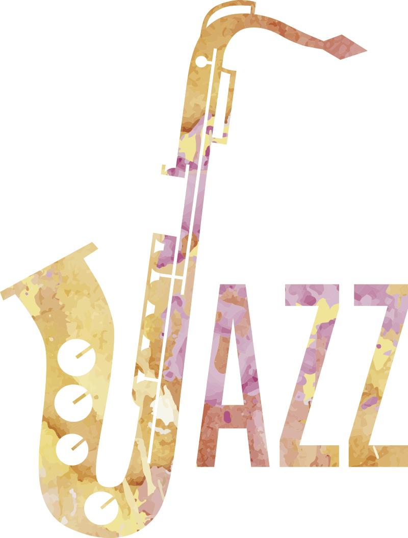 TenStickers. Jazz wall decor. You like jazz? This jazz sticker is great for you! A simple design featuring the word Jazz, the cool part being that the J is a saxophone