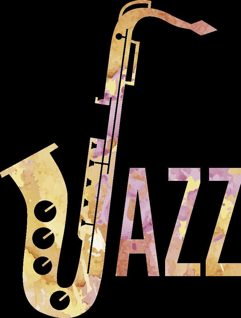 TenStickers. Sticker Jazz sassofono ad acquerello. L'adesivo Jazz con sassofono ad acquerello è un qualcosa di fantastico per personalizzare in modo veramente speciale la propria casa!