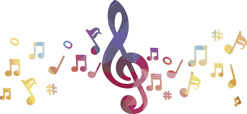 TenStickers. Bunter Notenschlüssel musikalisches wandtattoo. Home wandtattoo mit musikklängen und noten in mehreren farben, um den raum im haus zu Dekorieren, sei es im wohnzimmer oder im schlafzimmer.