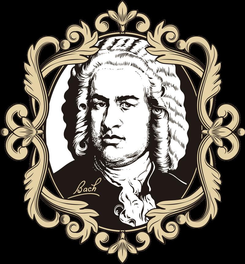 TenVinilo. Vinilo de música retrato Johann Sebastian Bach. Exclusivo vinilo de música clásica de Johann Sebastian decorativo y adhesivo con el que podrás personalizar tu decoración. Fácil de colocar.