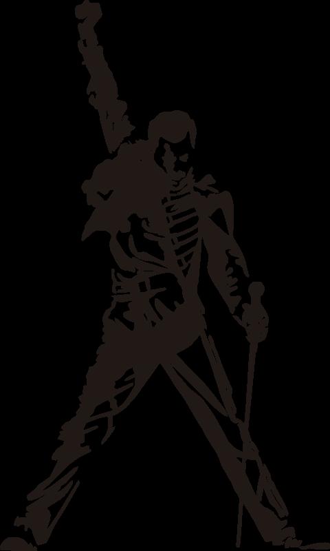 TenStickers. Autocolantes de personagens Freddie Mercury Silhueta. Espetacular vinil autocolante do grande Freddy Mercury, ex-vocalista de Queen, a decoração perfeita para a tua casa! Não deixam residuos após remoção.