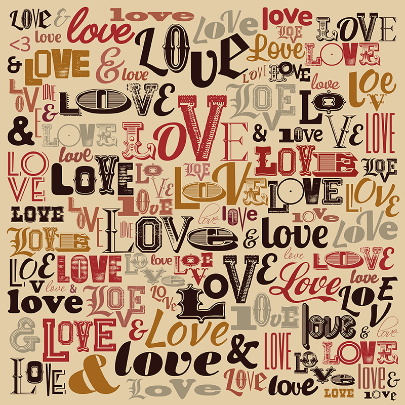 TenStickers. Love typography wall decal. If you're feeling the love then celebrate it with this love sticker! A fantastic design, made with high quality ink and vinyl!