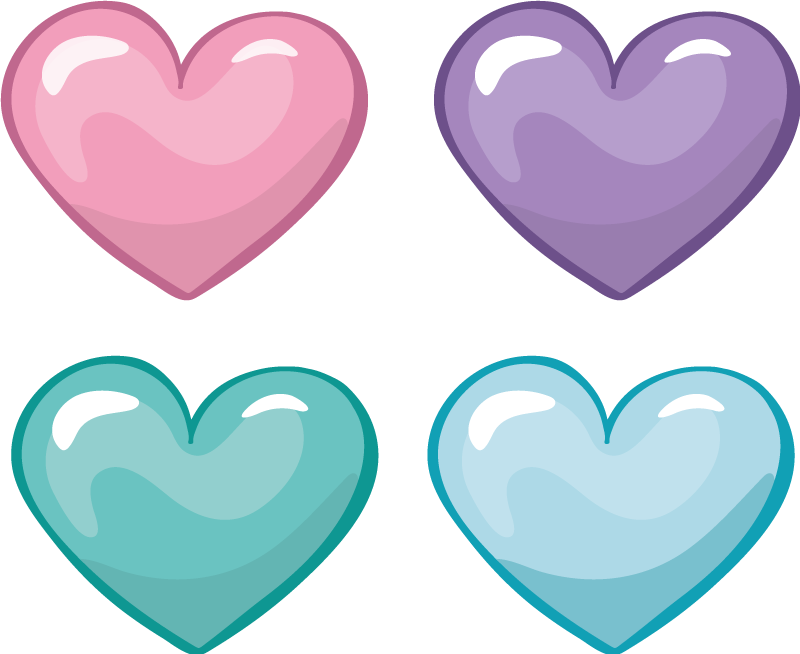 TenStickers. Pack of hearts love wall sticker. A cute pack of stickers that we absolutely