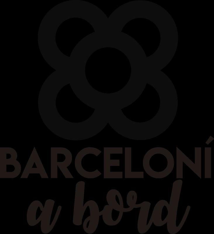 "TenVinilo. Vinilo decorativo Barcelona panot a bord. Maravilloso sticker para coche de Barcelona con frase ""Barceloní a bord"" y con un panot en la parte superior. Fácil de colocar."