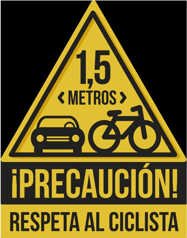 TenVinilo. Vinilo precaución ciclista distancia seguridad. Vinilo autoadhesivo fácil de aplicar con frase 'precaución! con el que recordarás a todos los conductores que se respete a los ciclistas. Fácil de colocar.
