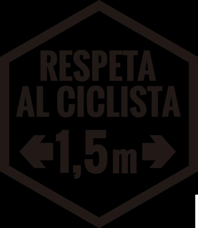 """TenVinilo. Vinilo frase respeta al ciclista 1.5 m. El vinilo de auto fácil de aplicar con el texto """"respeta al ciclista"""" con la distancia mínima que deben respetar. Puedes elegir esto en tu color preferido."""