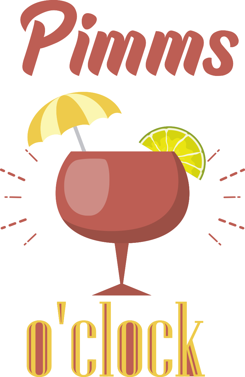 TenStickers. Pimms o'clock drink wall sticker. What time is it come, why it's time Pimms o'clock of course! If you're a fan of this tasty drink then this drink sticker is perfect for you