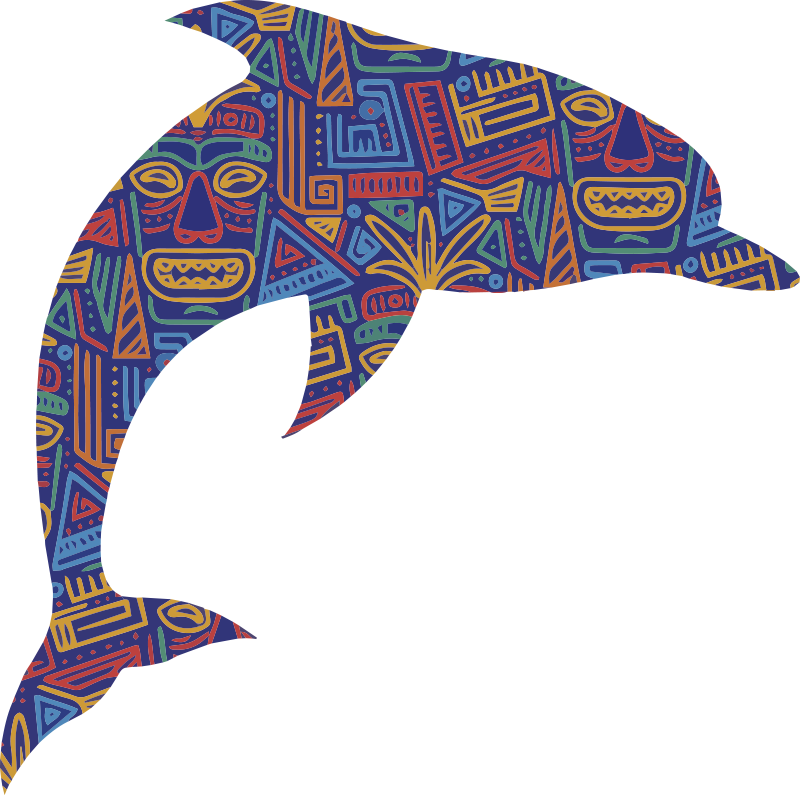 TenStickers. Maori dolphin art wall decal. Do you want to add a splash of colour to your home, well why not do it with this fantastic art sticker! Full of colour thanks to Maori art style!