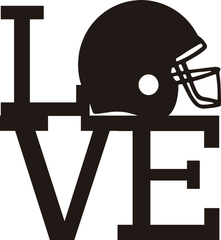 TenStickers. Love NFL American football decal. If you love the NFL then this fantastic NFL sticker is absolutely perfect for you! This American football sticker is available in different sizes