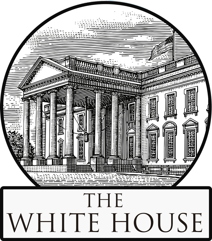 TenStickers. Vintage White House location decal. Love The White House and trying to find a unique, vintage, classy White House sticker? Well here it is, perfection right?