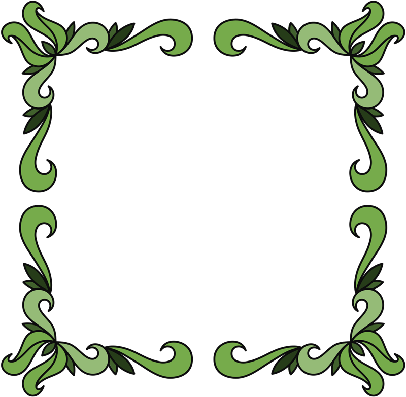TenStickers. Green vegetable corners mirror wall sticker. An ornamental green flower mirror decal to decorate the surface of you mirror. Self adhesive , easy to apply design.You can chose your preferred size.