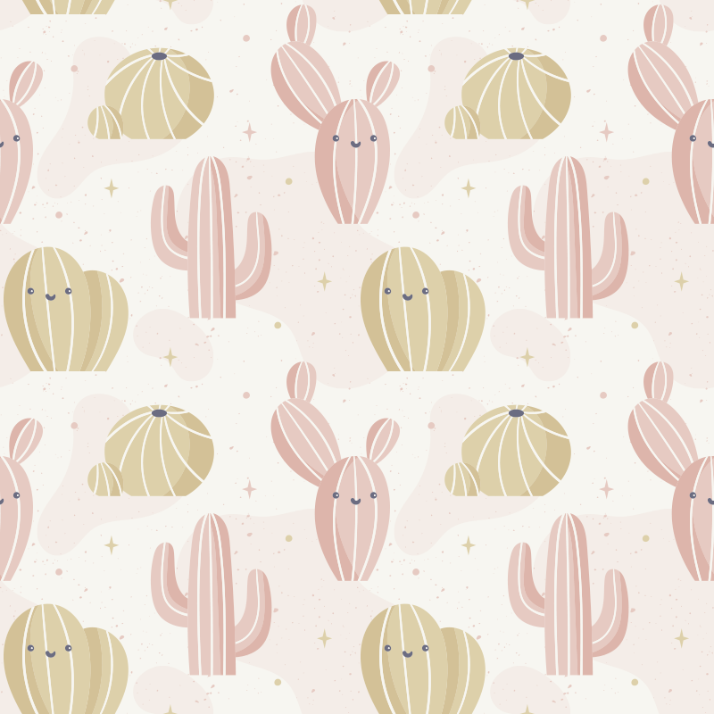 TenStickers. Cactus plant wall decor. A wall decal for kids bedroom created with cactus plant in multiple. This design will make am amazing and comfortable decoration for you kid's room.