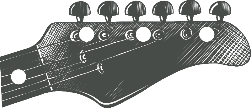 TenStickers. Electric guitar coat hanger decal. Looking for a place to hang your keys or your coat? Want it to be unique and musical? We have the answer right here with this coat hanger sticker!