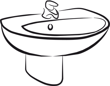 TENSTICKERS. シンクウォールステッカー. 浴室のステッカー-悪臭のイラスト。あなたの家やビジネスのための素晴らしい価格で素晴らしいデカールデザイン。