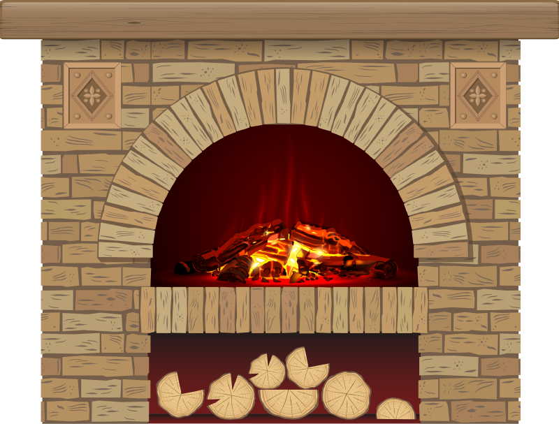 TenStickers. Brick fireplace visual effects wall decal. An original bricks textured fire place wall decal created with visual of a fire place that you can decorate your home with . Easy to apply design.