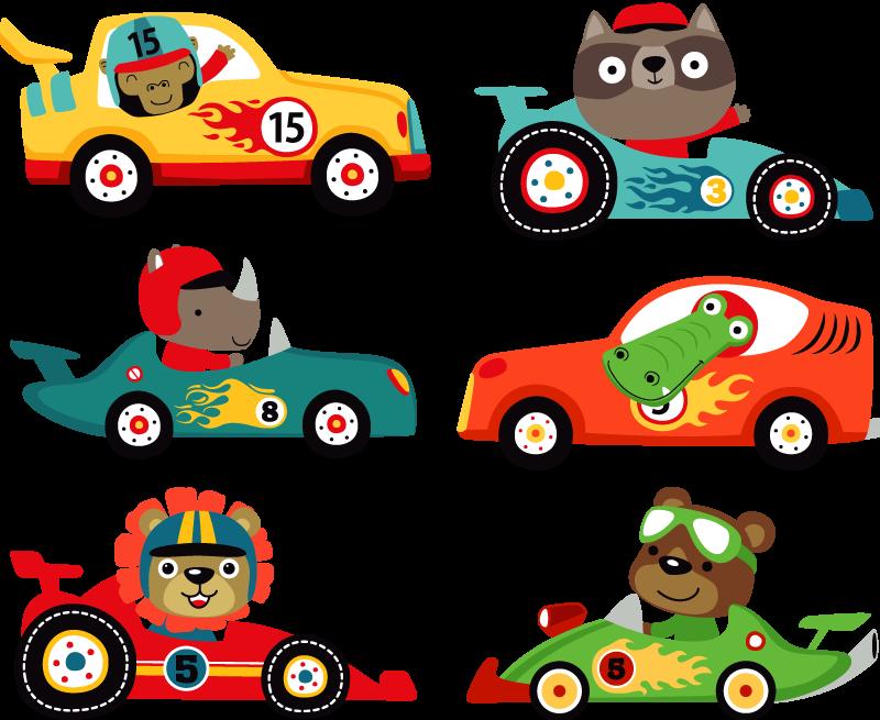 TenVinilo. Vinilo coche Autos pequeños. Pegatina de dibujo de coches infantiles para que tu hijo pueda disfrutar de una decoración divertida y exclusiva. Fácil de colocar.
