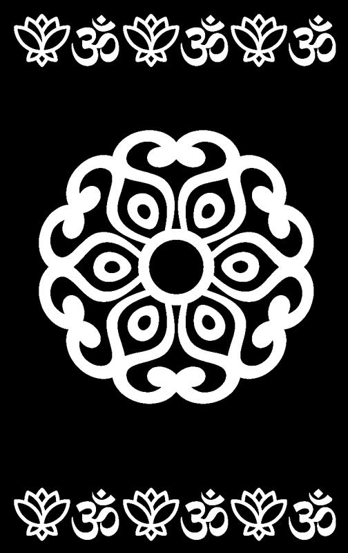 TenStickers. Pellicola vetro Mandala floreale. Sfrutta questa pellicola per vetro Mandala floreale per finestra per rivoluzionare l'impatto visivo trasmesso dai tuoi ambienti domestici!