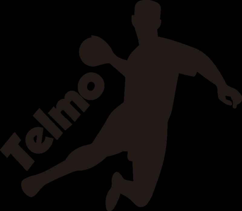 TENSTICKERS. ハンドボール選手のシルエットの壁の装飾. 最高品質の素材でデザインされた男性のハンドボール選手のシルエットステッカー。このスポーツの選手のためのインスピレーションのためのハンドボールシルエット。