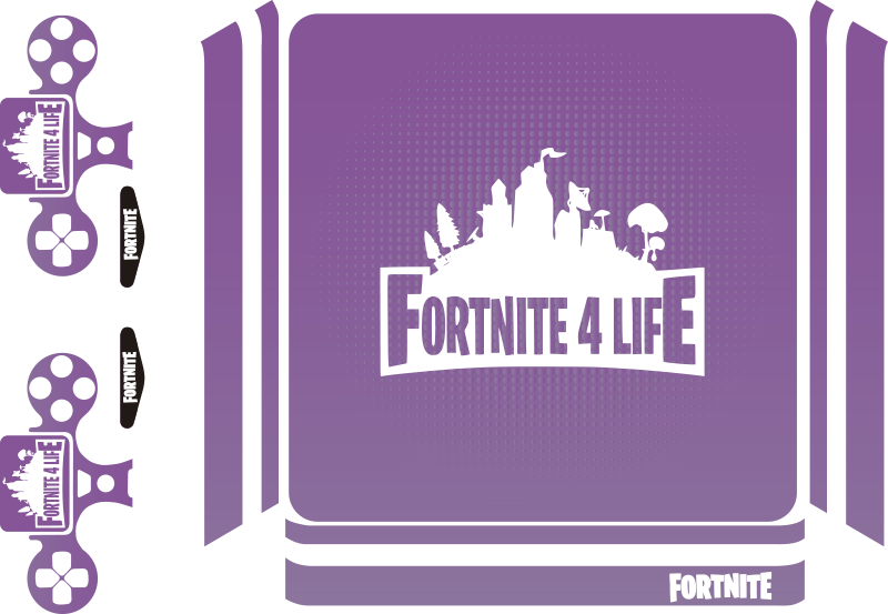 TenStickers. PS sticker games Fortnite 4 life. Een geweldige game sticker van het leuke Fortnite. Deze is geschikt om op de playstation te plakken en dat ziet er super gaaf uit.