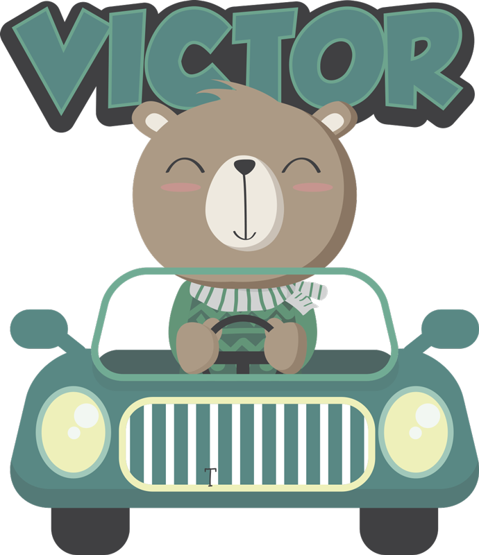 TENSTICKERS. パーソナライズされた車のテキストの壁の装飾. このパーソナライズされた車で子供の名前をパーソナライズするには、テキストウォールステッカーデザイン製品を使用します。この製品は任意のサイズにすることができ、簡単に適用できます。