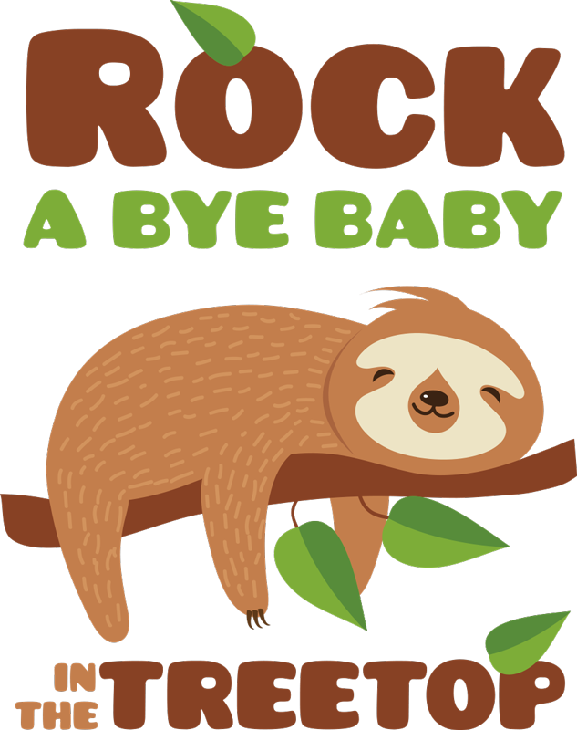 TenStickers. Rock a bye baby  nursery rhyme decal. A rock a bye baby animal nursery rhyme wall decal that will keep your baby to sleep with the amazing look on the wall. This design can be in any size.