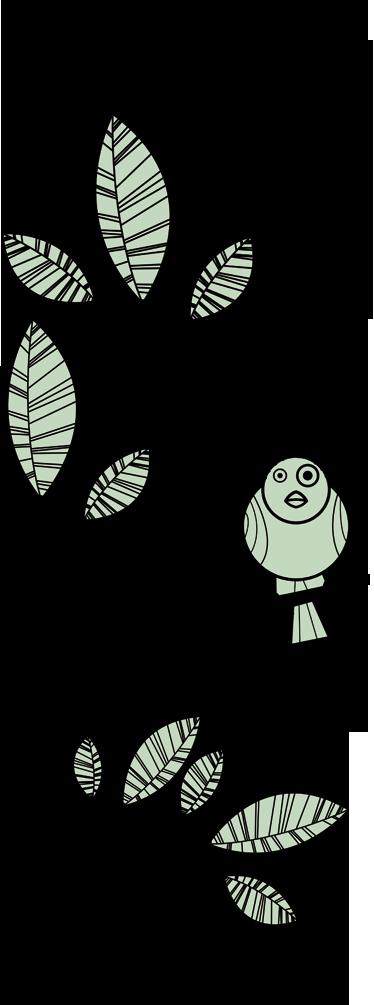 TenStickers. Sticker decorativo rametto con uccellino. Adesivo decorativo che raffigura un simpatico uccellino posato su un delicato ramo d'albero. Ideale per abbellire le porte di casa.