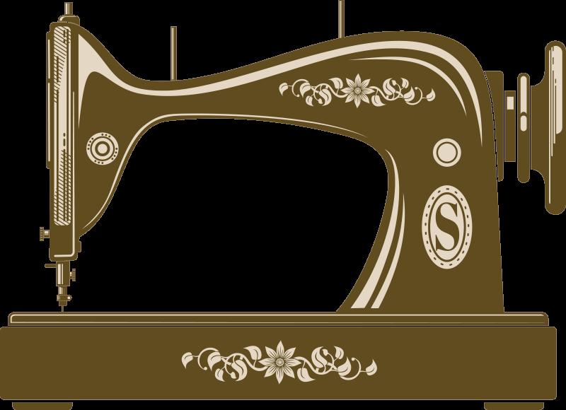 TenVinilo. Vinilo decorativo para letrero de máquina de coser vintage. Vinilo adhesivo de máquina de coser vintage hecho de material de la mejor calidad. Producto fácil de aplicar. Elija el tamaño que necesite.