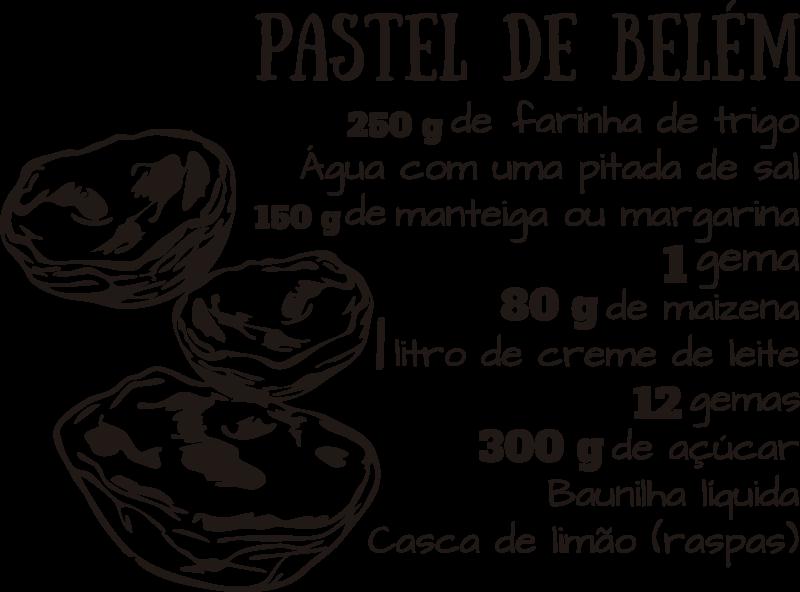 TenStickers. Autocolantes decorativos de receitas Pastel de Belém. Decora a tua cozinha ou estabelecimento de forma criativa e original com este autocolante decorativo de receitas da receita do famoso Pastel de Belém!