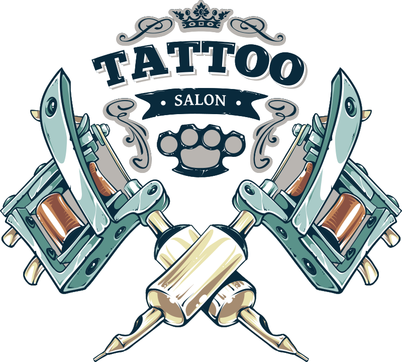 TenVinilo. Vinilo decorativo arte Tatto tienda. Vinilo adhesivo para escaparate de tienda de Tattoo con el que podrás llamar la atención de todos tus potenciales clientes. Fácil de colocar.