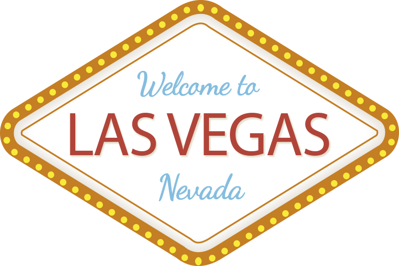 TenStickers. Las Vegas Custom wall decor. Las Vegas custom sign wall stickerthat is made of high quality vinyl, easy to apply and  you can request in any size of your choice.