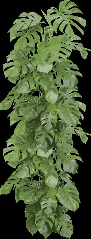 TenStickers. Sticker porte branches vertes. Stickers pour portes illustrant un assemblage de branches vertes.Idée déco pour la chambre à coucher ou le salon.