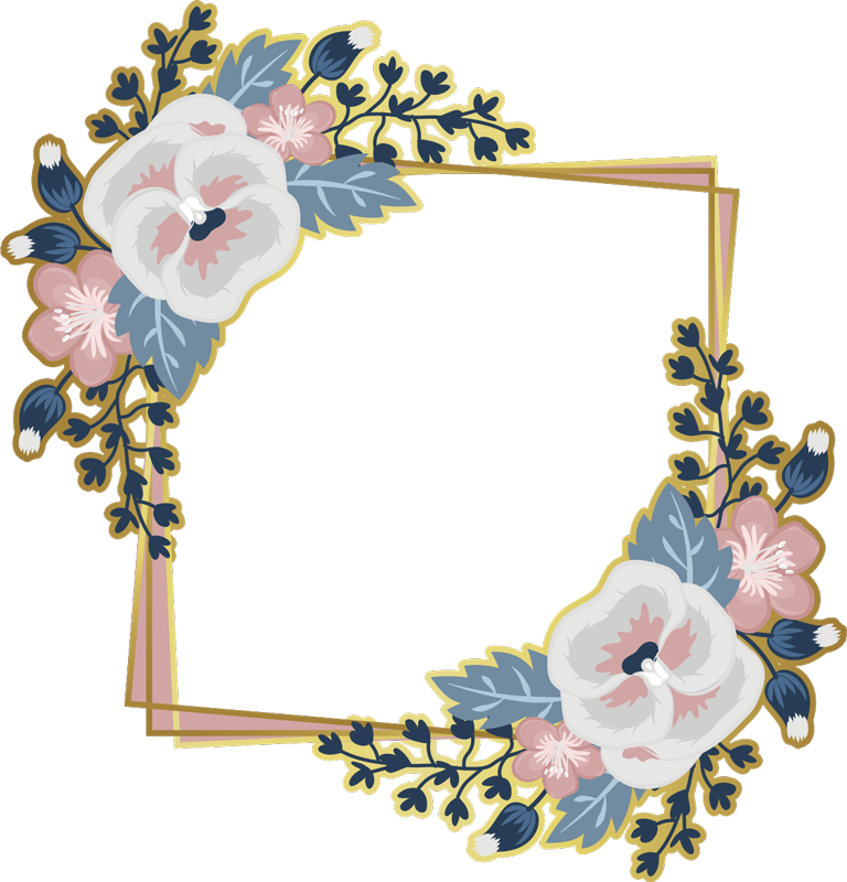 TenStickers. mirror flowers  sticker. A beautiful flower mirror frame sticker that will leave you with amazement when you use your mirror. High quality product that is very easy to apply.