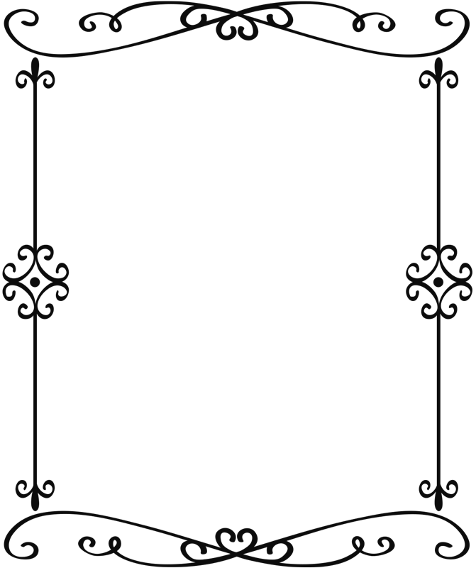 TenStickers. ornamental black mirror frame wall sticker. An black decorative ornamental mirror frame home decal that will suite and beautify any mirror object or surface you choose to give a rich definition.