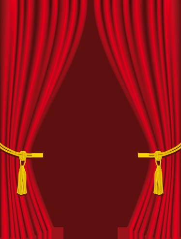 TENSTICKERS. カーテンビニールステッカー. デカール-ドア、窓、壁を飾るエレガントな赤いベルベットのカーテン。