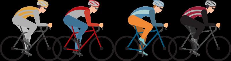TenVinilo. Vinilo decorativo de ciclismo deportivo. Vinilo pared de cuatro ciclistas en su bicicleta perfecto para los amantes de este deporte. Este diseño puede ser en la sala de estar o dormitorio y muy fácil de aplicar.