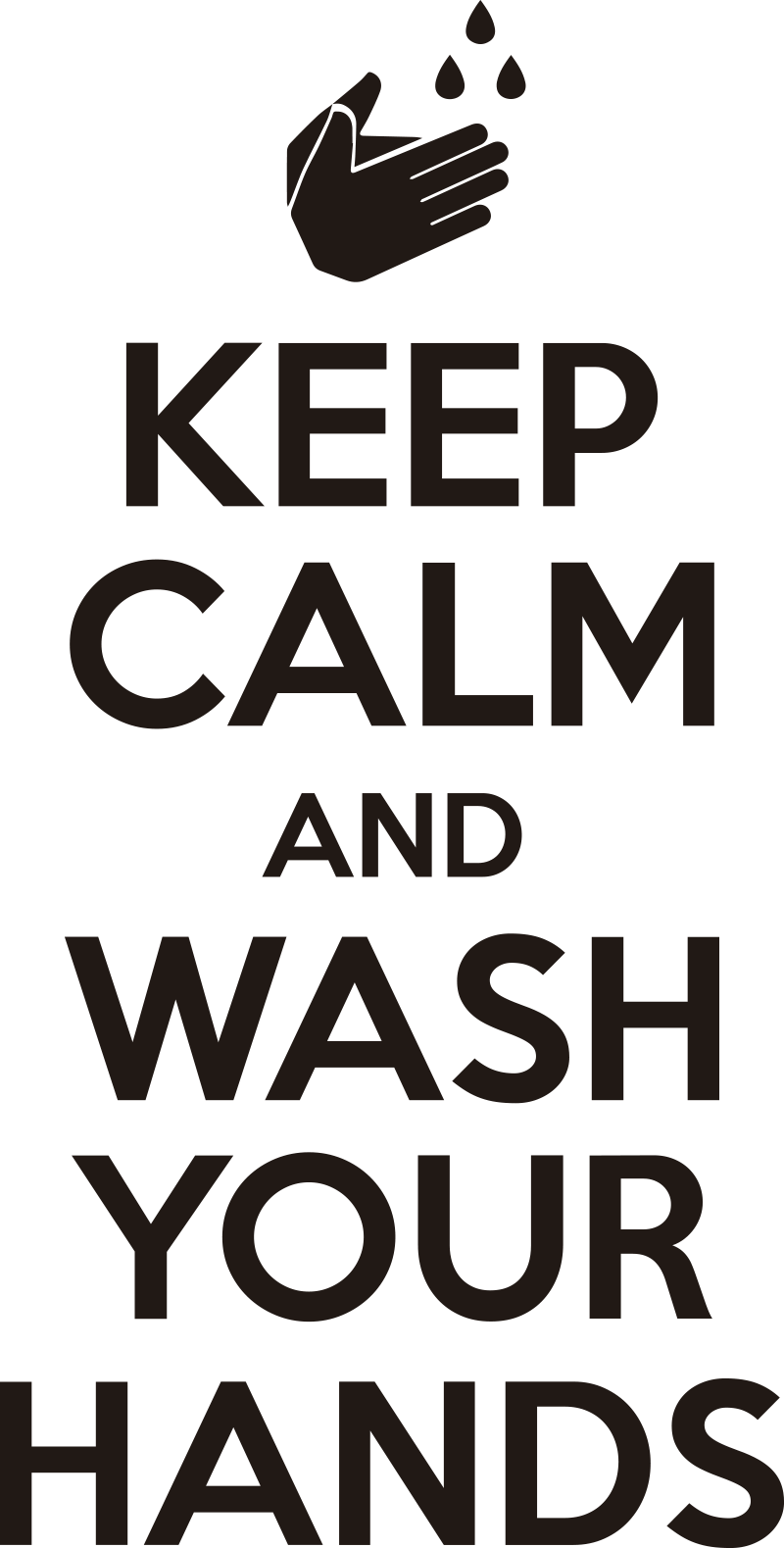 TenStickers. keep calm and wash your hands text wall decal. keep calm and wash your hands text bathroom sticker design for your bathroom and toilet. This simple and peaceful instruction design is easy to apply.