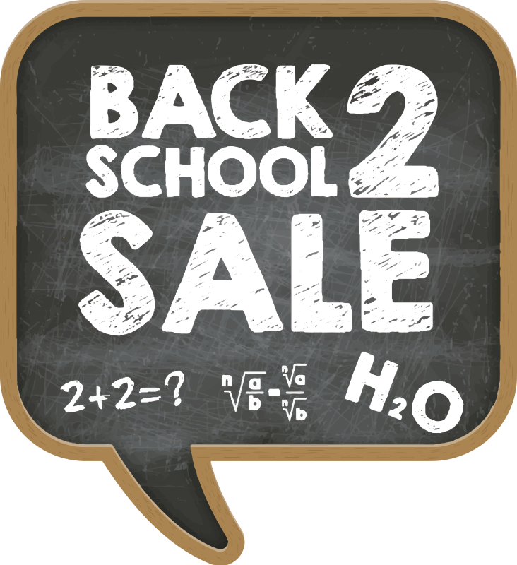 TenStickers. Back to school sale chalk wall sticker. If you trying to promote sales for a season, why not buy this back to school sale chalk wall sticker designed in a chalk board style.Its Easy to apply
